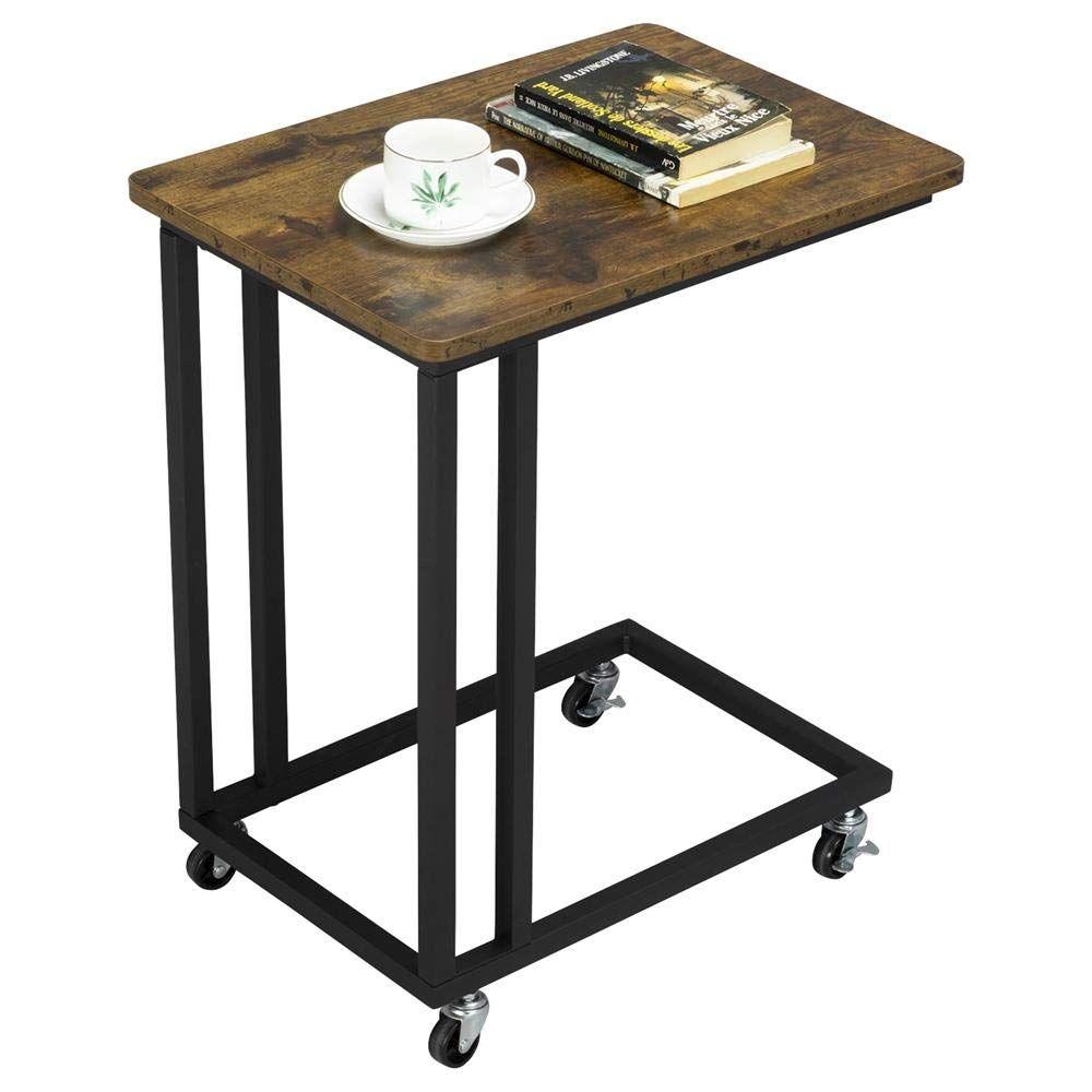 Yaheetech Vintage Beistelltisch Couchtisch Mit Metallrahmen Industriestil Wohnzimmertisch F R Coffee In 2020 Sofa Side Table Adjustable Table Side Table With Storage
