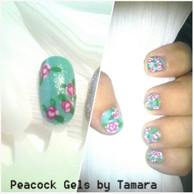 Practice Inspiration Gel and Polish. Roses In Bloom For Manicure And Pedicure