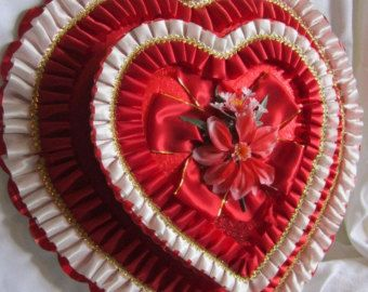 Valentine Chocolate Box Huge Red Extravagant Candy Heart Box Ribbons