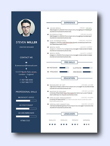 Blue Young remarkably smart resume templates Simple to Edit