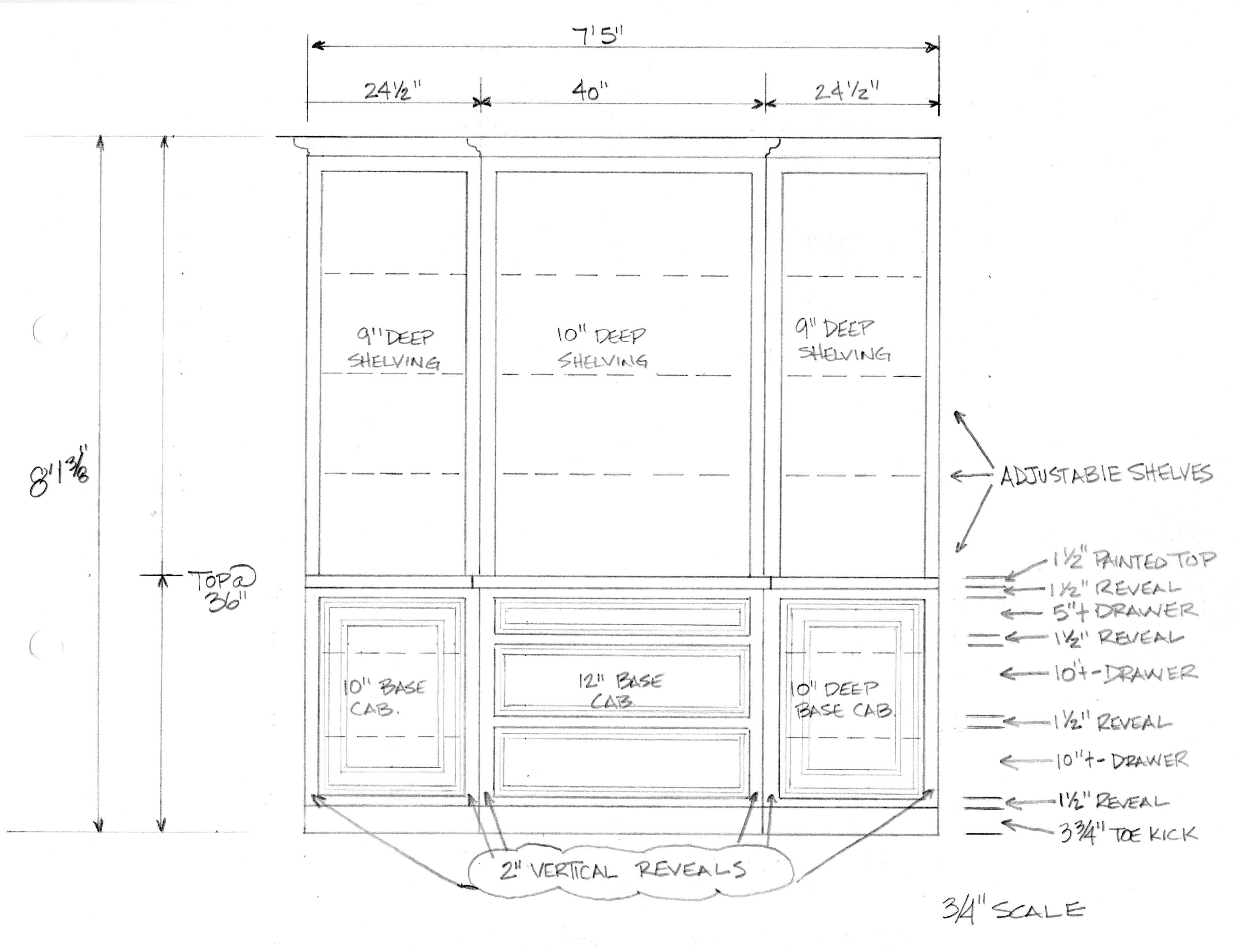 Casework millwork detailed shop drawing for typical built for Casework construction