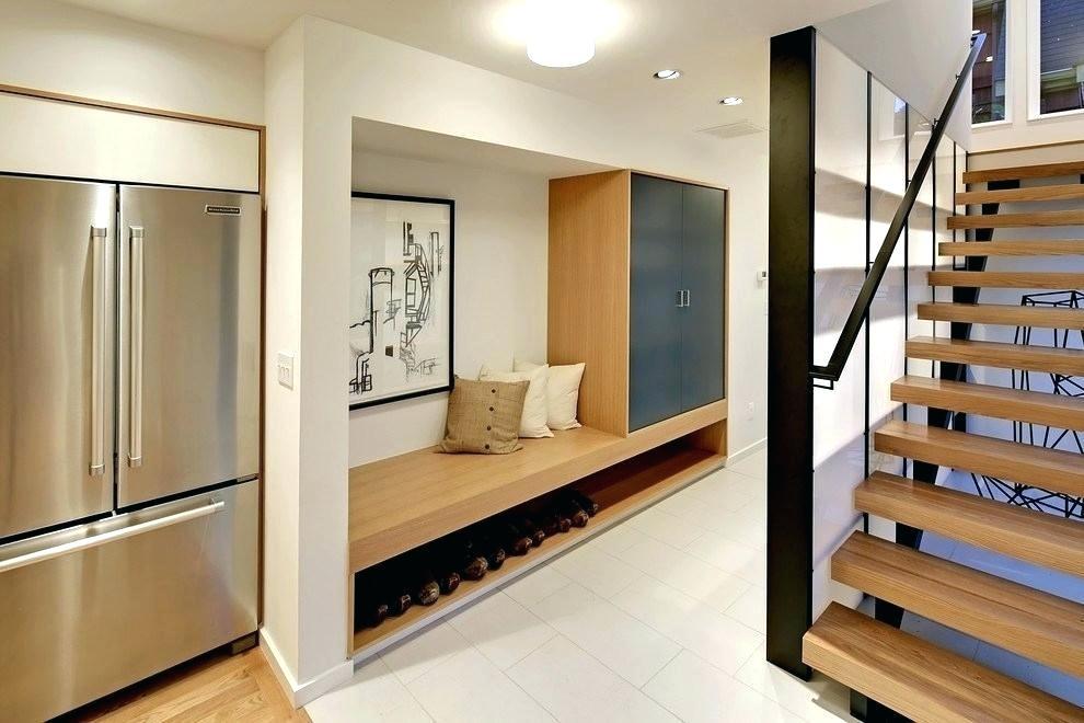 Foyer Built In Modern Entryway Bench Mirror Coat Rack Storage Cabinets Modern Hallway Mudroom Design Foyer Design