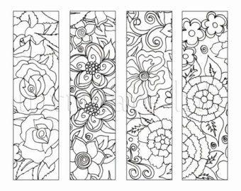 4 Mandala Colouring Bookmarks Set 1 Instant Download | teaching ...