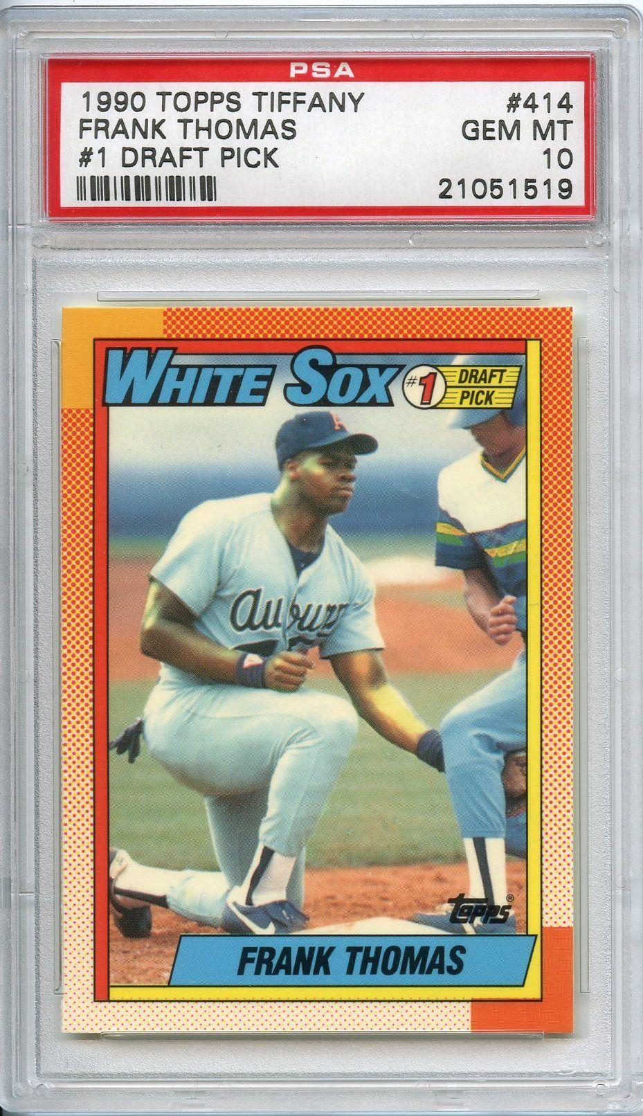 Image Result For 1990 Topps Frank Thomas Tiffany Baseball Cards