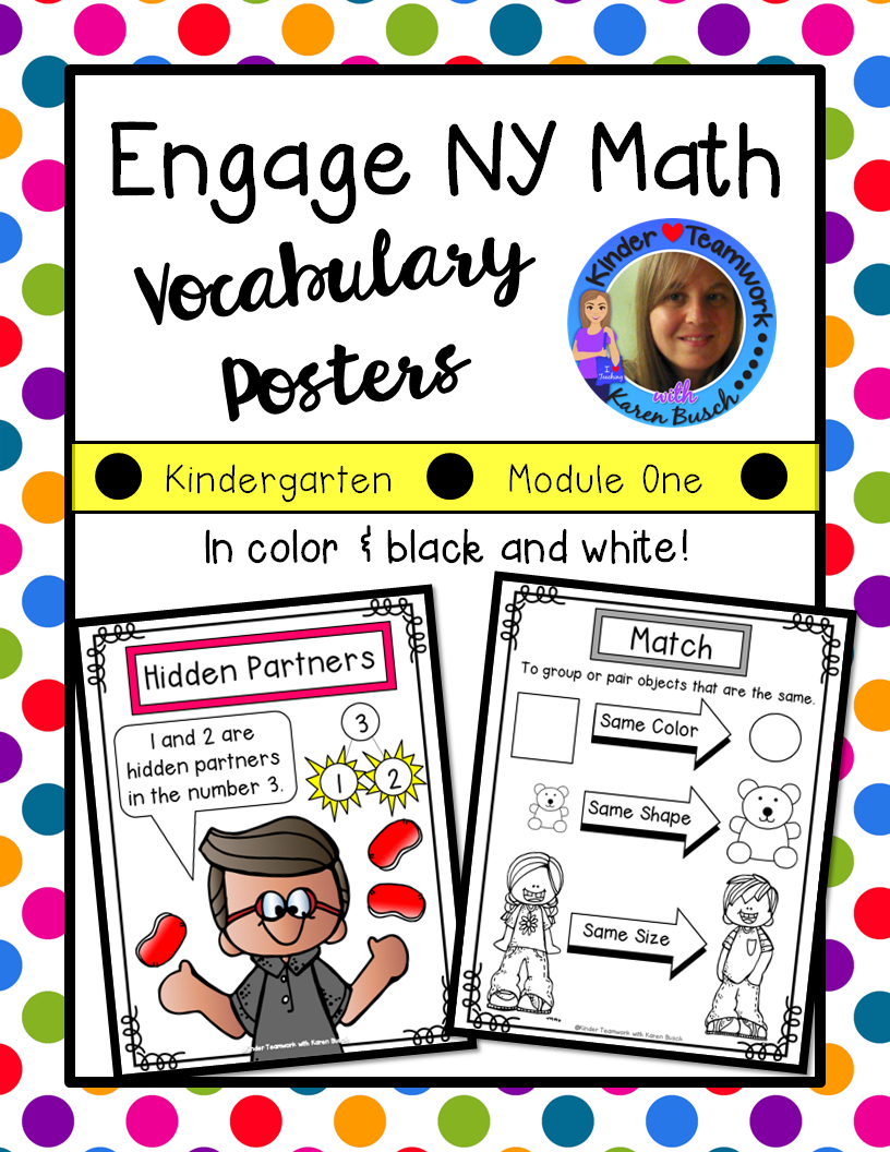 Math vocabulary posters for engage new york kindergarten module 1 common core math vocabulary posters for kindergarten supports engage new york and eureka math module fandeluxe Choice Image