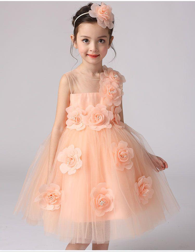 Click to Buy << 2016 summer new style kids princess dress wedding ...