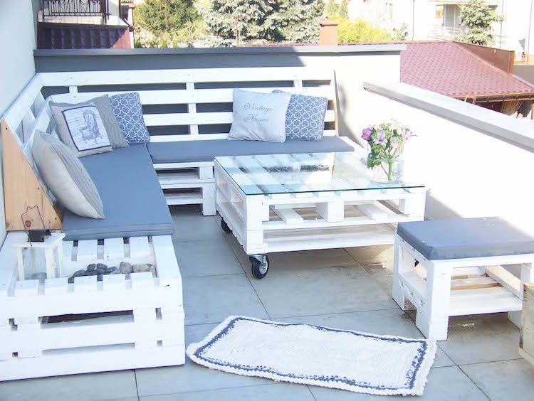 Fabriquer salon de jardin en palette de bois – 35 idées ...