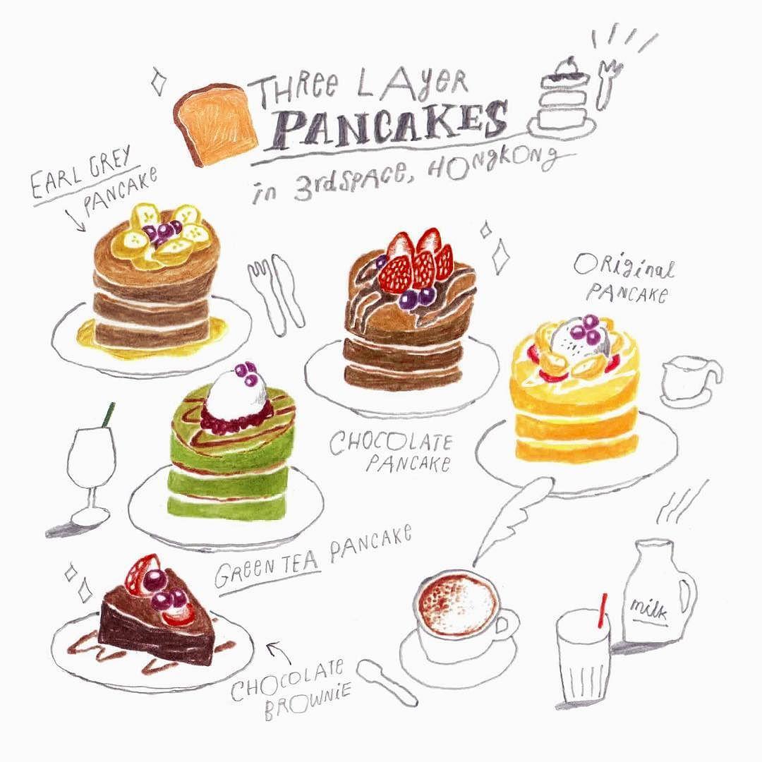 #Pancakes in #3rdspace #Hongkong 난 녹차!  by moreparsley