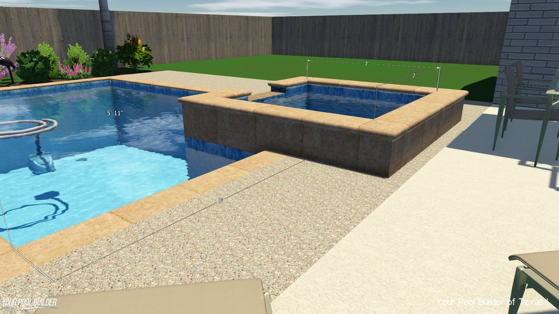 inground swimming pool prices cost with a spa (2) | Pool Design ...