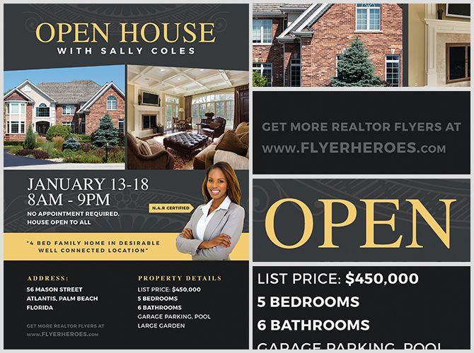 broker open house flyer template open house brochure template open