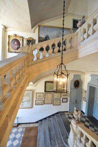 Chateau De Balleroy Normandie L Escalier Suspendu Photo Paris
