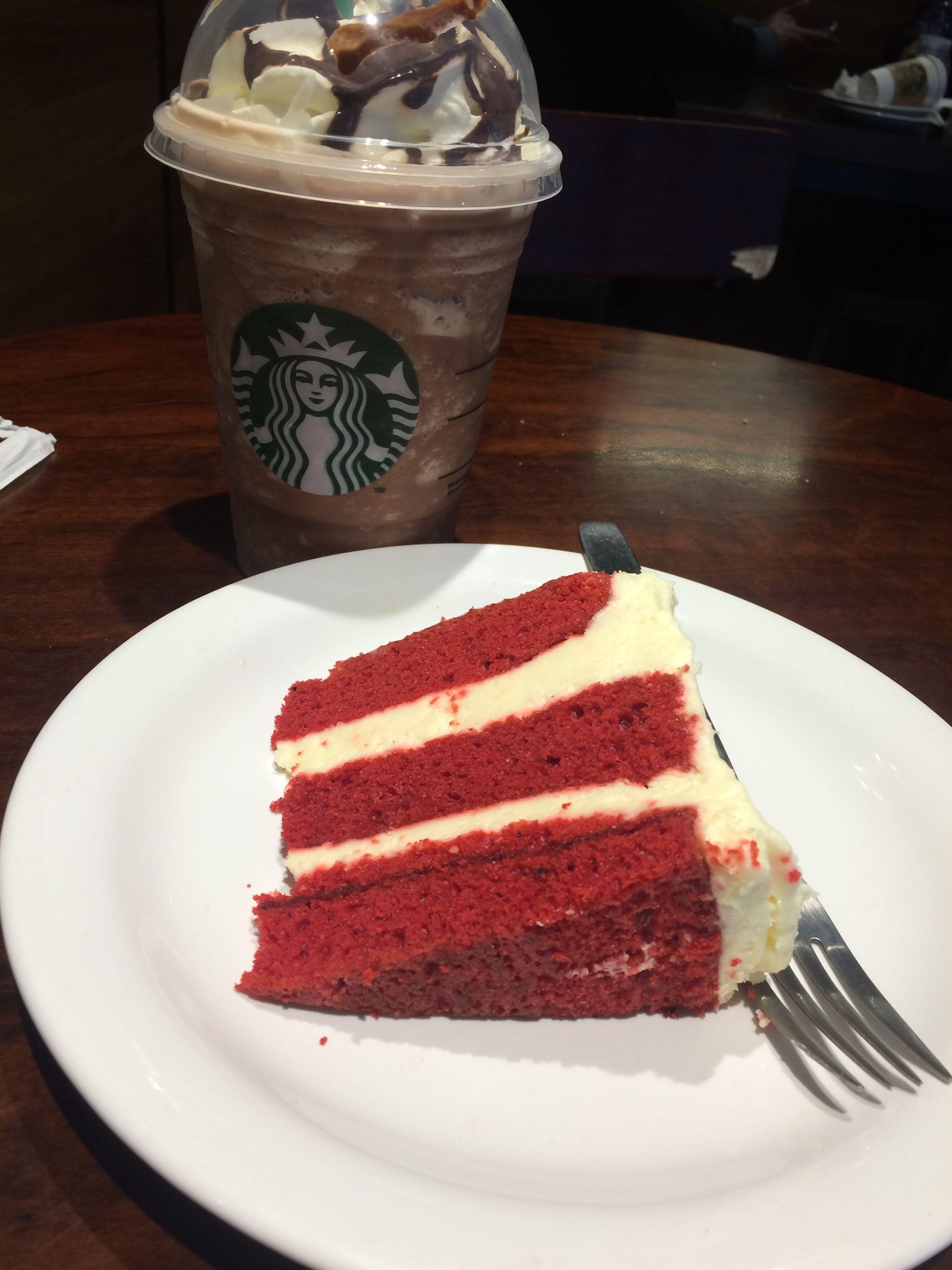 Red Velvet Cake And Chocolate Frappuccino Starbucks Love