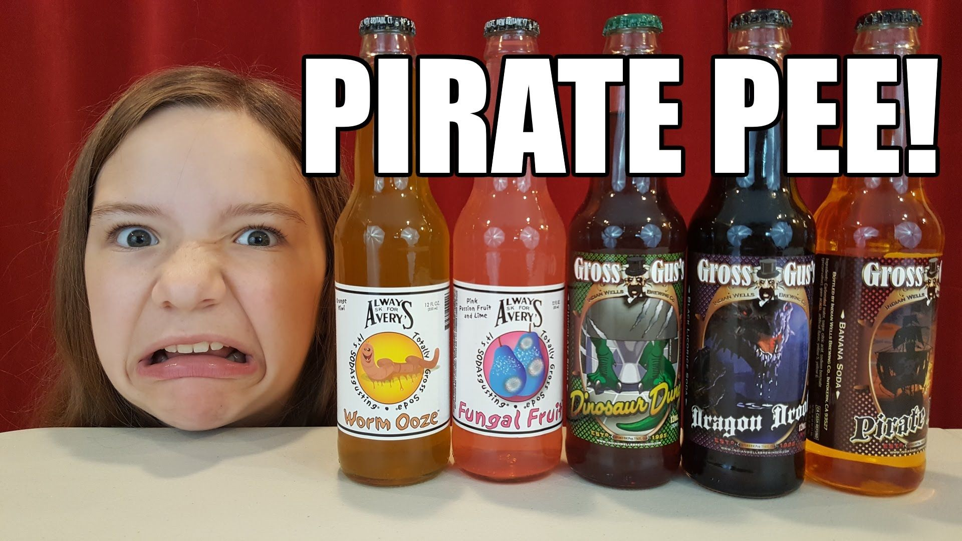 Drinking Pirate Pee!  Disgusting gross soda challenge! | Kid Candy Revie...