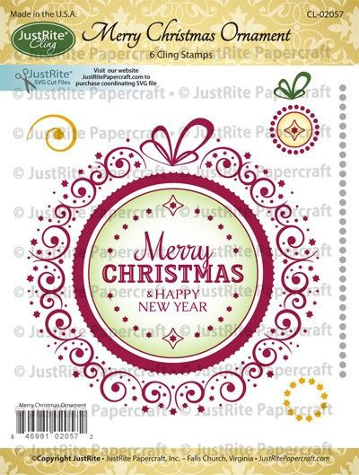Image result for just rite cling merry christmas ornament