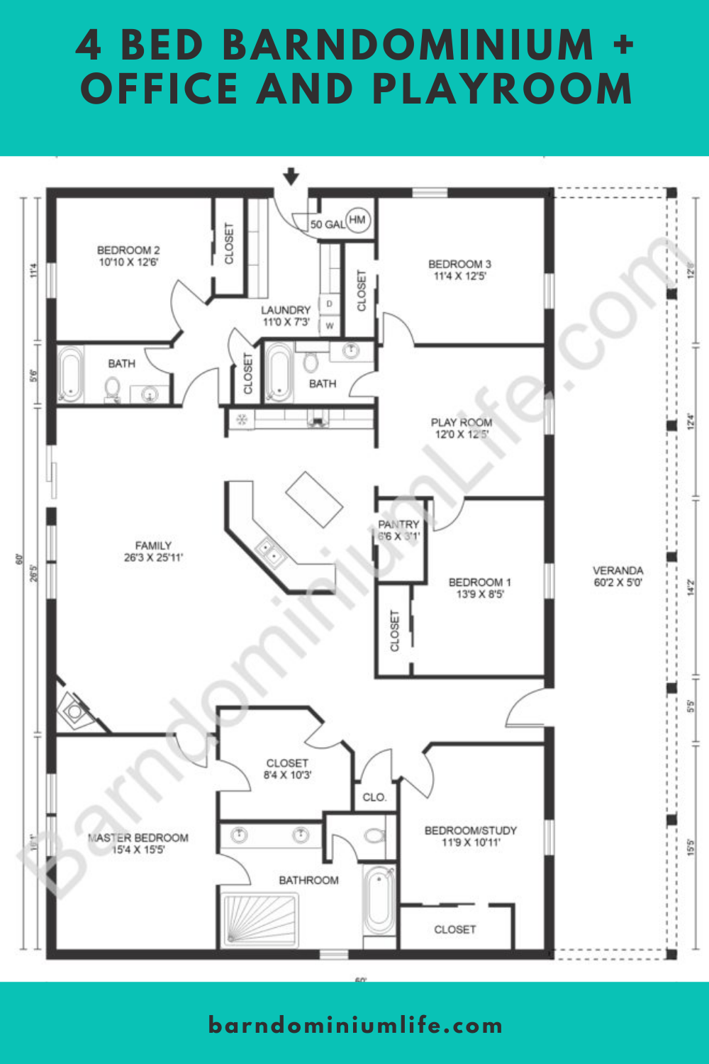7 Open Concept Barndominium Floor Plans Barndominium Floor Plans Metal House Plans Pole Barn House Plans