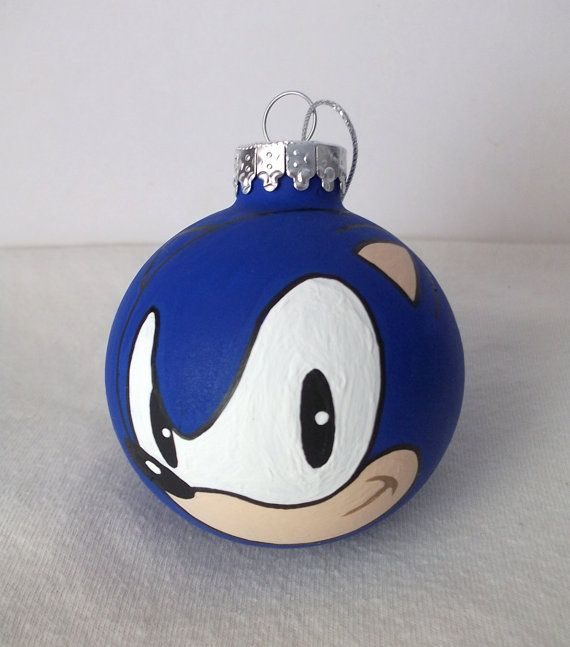Sonic the Hedgehog Painted Holiday Christmas Ornament Sega Genesis ...