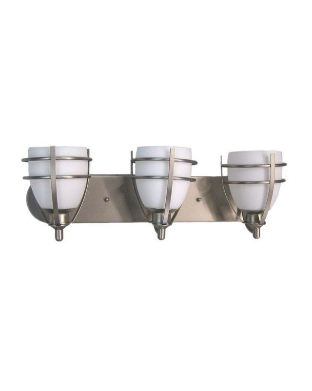 epiphany lighting 103144 bn three light bath wall in brushed nickel