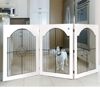 Costco Majestic Pet Free Standing Pet Gate White Wood