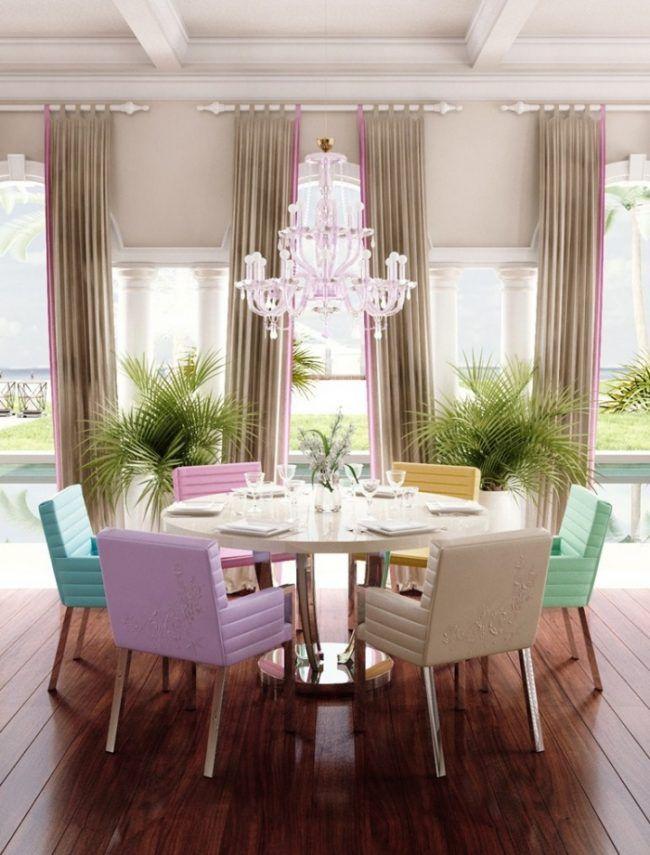 Runder-Esstisch-weiß-Hochglanz-Metallgestell-OTTO-Blumarine-Home - runder küchentisch weiß