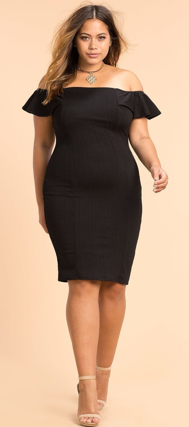 0ab059999147b Plus Size Off Shoulder Dress