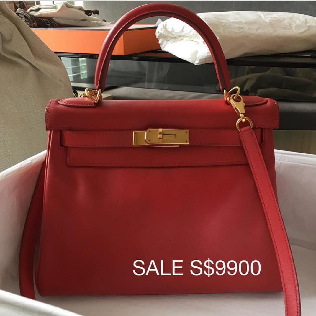 950c3097f500 So pretty for CNY Free Bag insert til 6 Feb for Kelly and Birkin purchases.  Model  Hermes Kelly 28 in Rouge Vif Condition  Gently used Stamp  D Color   Rouge ...