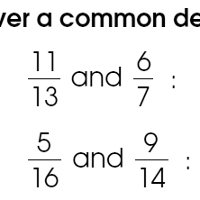 Fifty free worksheets on finding common denominators for