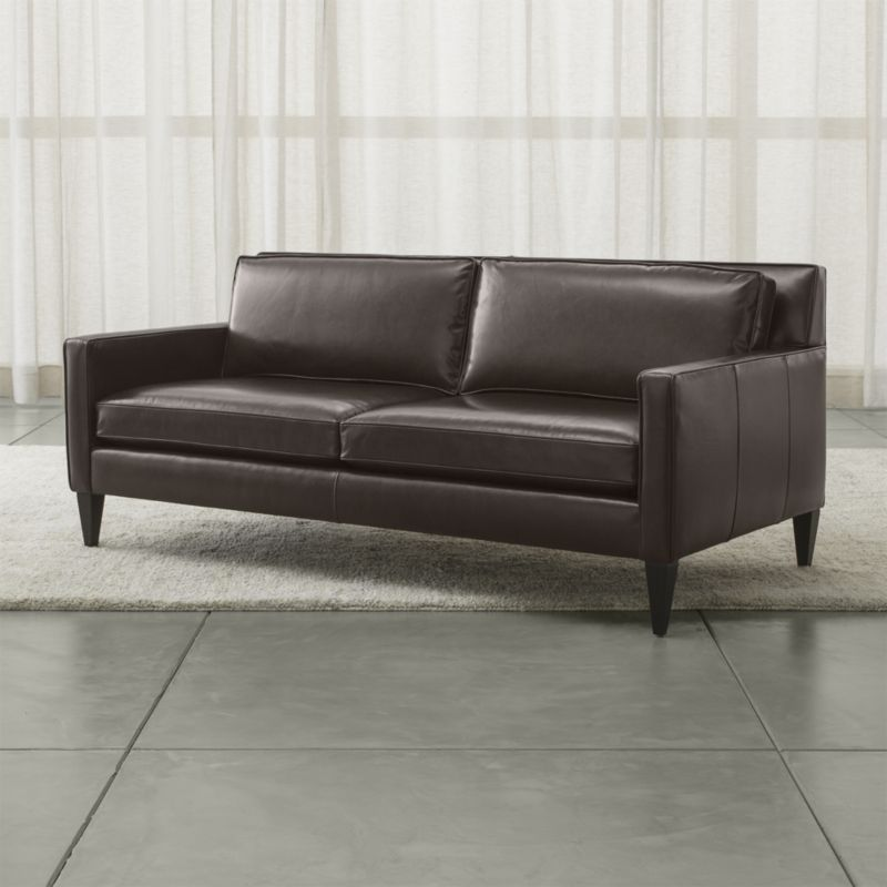 5499 Elegantly Tailored In Full Grain Leather Upholstery The Rochelle 2 Seat Apartment