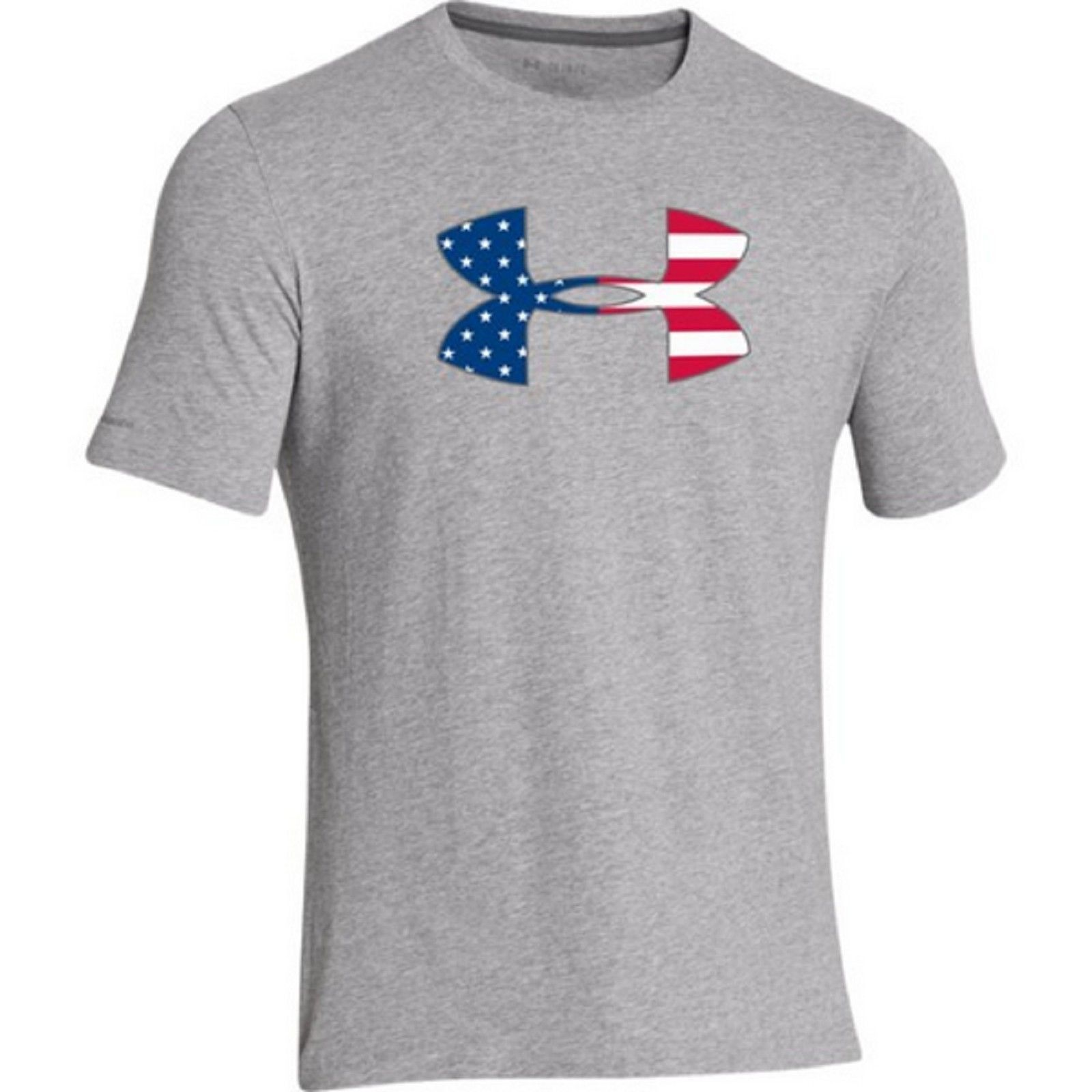 Under Armour USA Flag UA Logo T-Shirt - Men's Patriotic American Flag Tee  Shirt