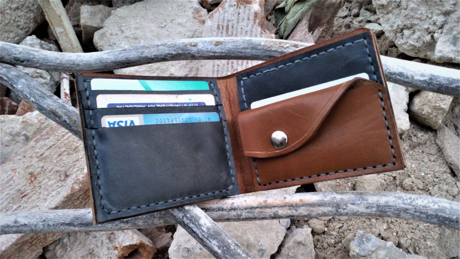 Leather Business Card Holder,minimalist wallet , credit card wallet ...