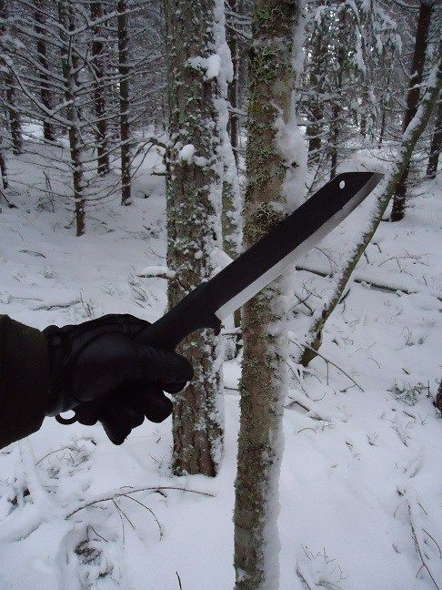 Field testing the Skrama bush knife « The Weekend Woodsman