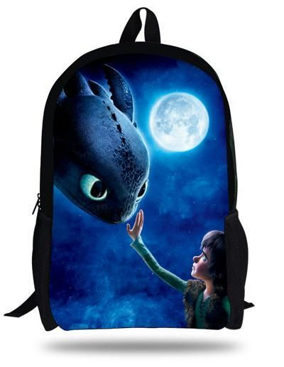 fc3796437221 16-inch Mochila Infantil How to Train Your Dragon Backpack Children School Bags  Boys Hiccup Toothless Backpack Kids Age 7-13