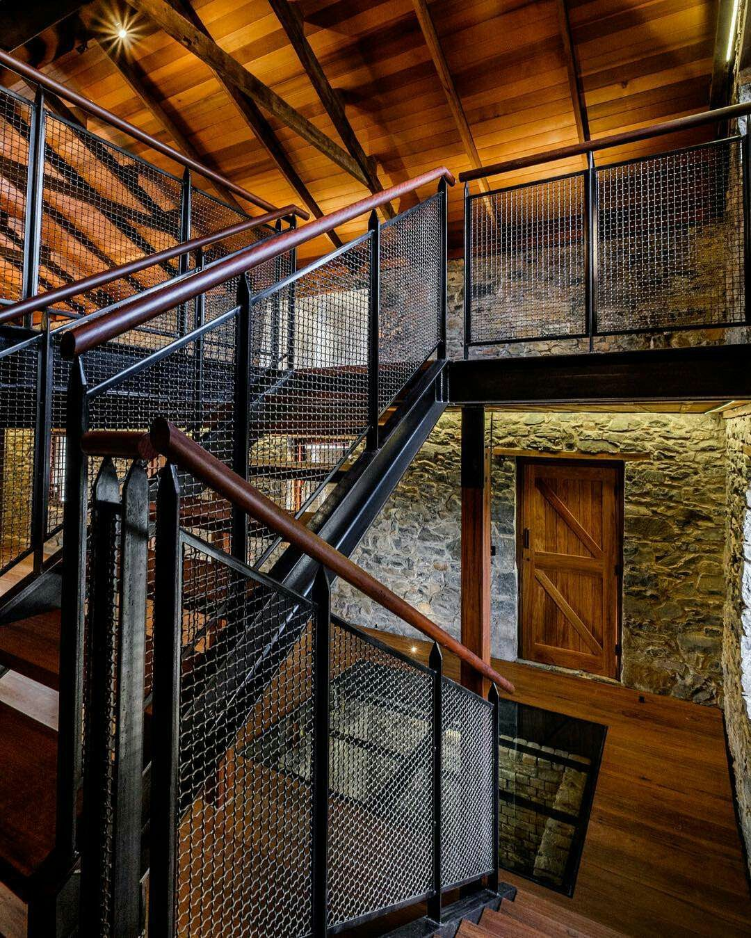 Industrial Metal Staircase Design: House Stairs, House