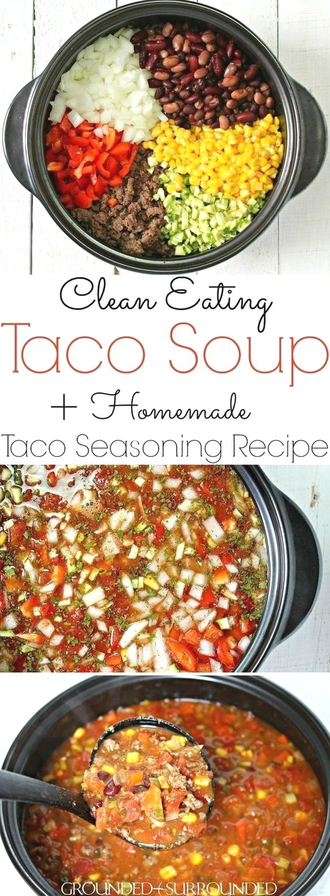 Taco Soup | Clean Eating Recipes #cleaneatingforbeginners
