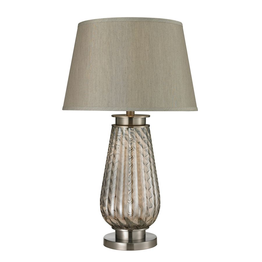 Westmore Lighting Reedwood 30 In Smoked Glass And Brushed Steel 3