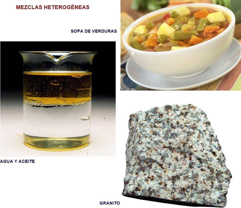 Ejemplos De Mezclas Heterogeneas Ejemplos De Mezclas Mezclilla Quimica Inorganica