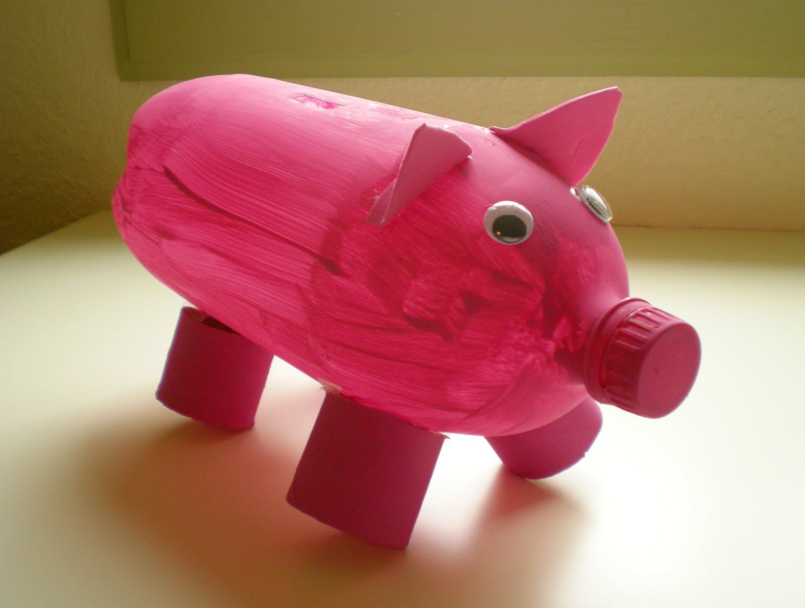 Viridorari recycling projects plastic bottle piggy bank Plastic piggy banks for kids