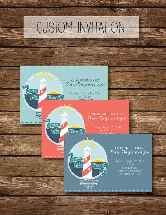 Custom invitation for New Beginnings! Incorporate the 2015 Youth Theme into your night with this invitation.    Immediately after payment is