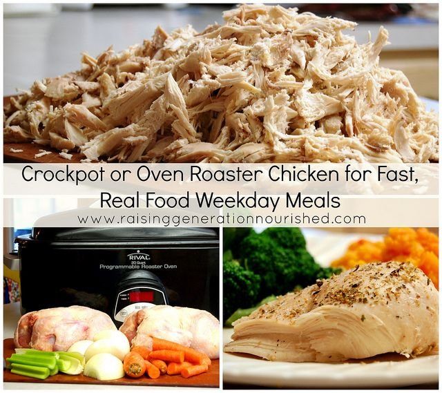 Crockpot Or Oven Roaster Chicken For Fast Weekday Meals Recipe