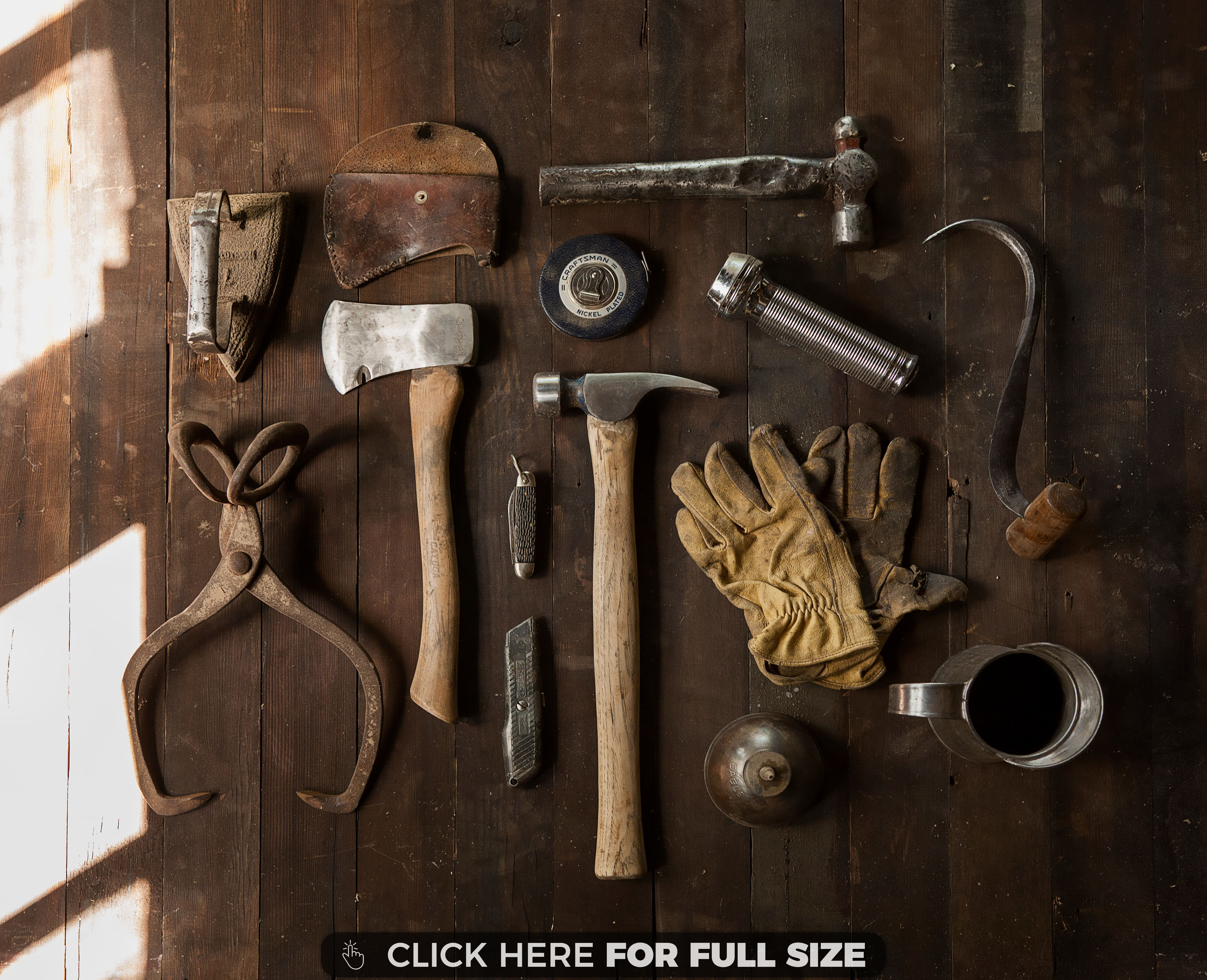 Brown Gloves Gray Hammers Tables Tools Wood Wallpaper Old Tools Color Palette Color Schemes