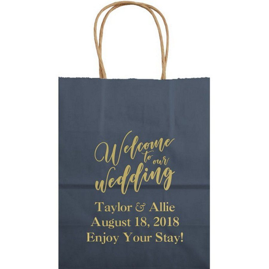 8 X 10 Kraft Wedding Welcome Gift Bags Personalized Wedding Welcome Gifts Personalize Bag Kraft Wedding
