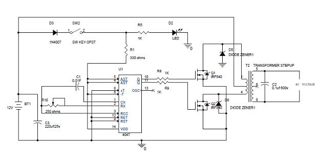 simple 100w inverter circuit diagram and its working pinterest rh pinterest com 100w power inverter circuit diagram 100w inverter circuit design