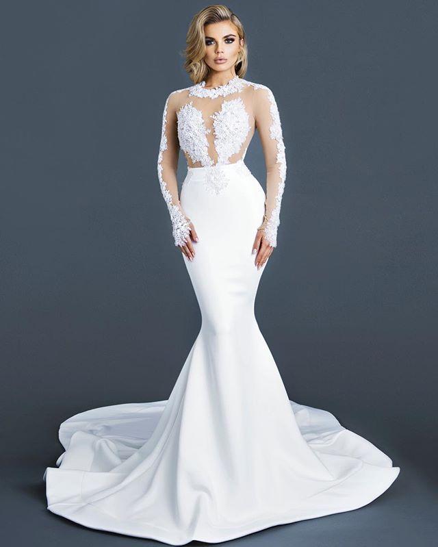 Vivian Gown #ryanandwalter #bridal Hair by: @yanivkatzav | White ...