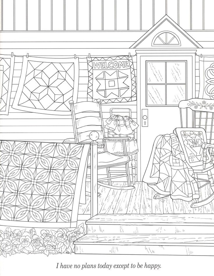 amish quilts and quotes adult coloring book