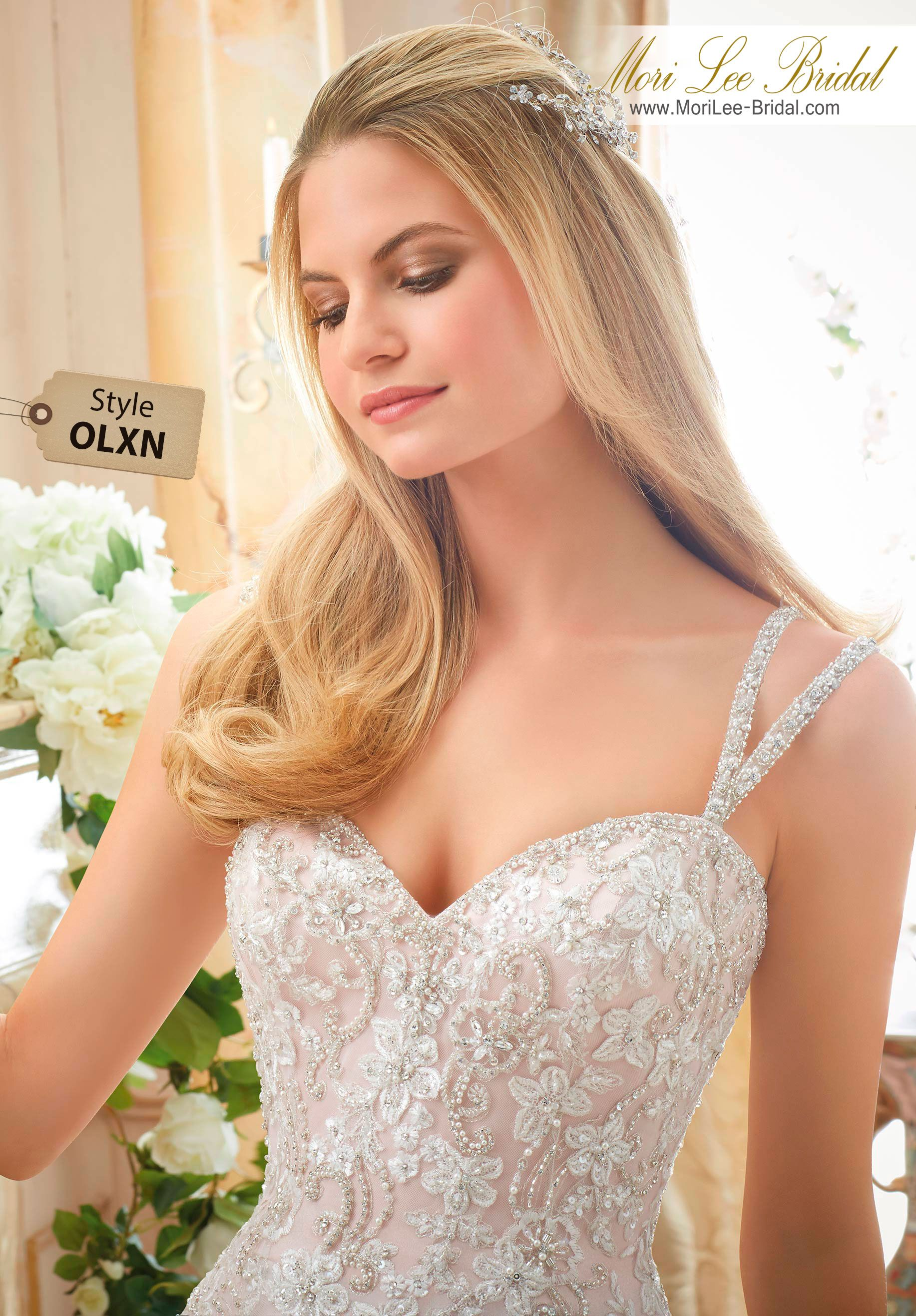 Dress style olxn elaborately beaded embroidery on soft tulle ball