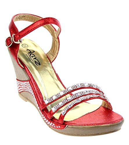 AARZ LONDON WOMENS LADIES SANDALS DIAMANTE WEDGE HEEL COMFORTABLE PARTY  WEAR SHOES SANDAL SIZE 3