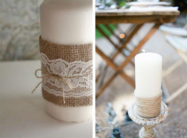 Centrotavola candele matrimonio fai da te tableau for Tableau style shabby chic