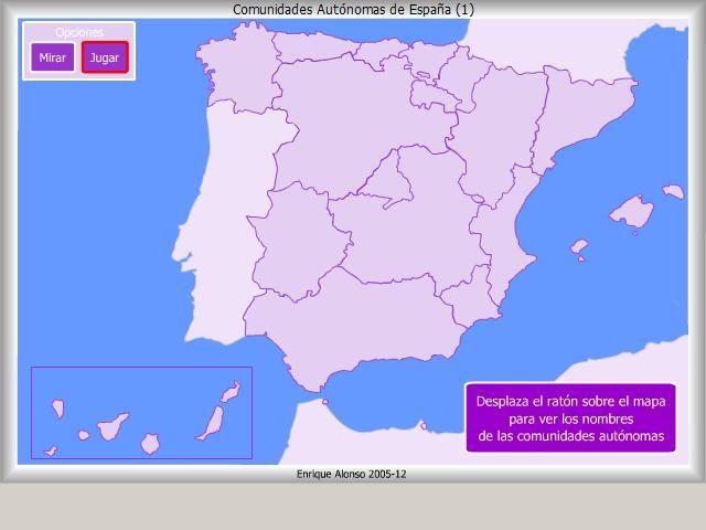 Comunidades Autónomas Dónde Está Enrique Alonso Comunidades Autonomas De Espana Comunidad Ciencias Sociales