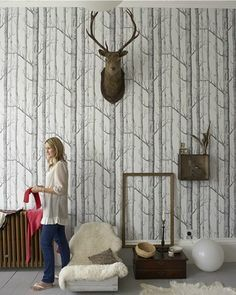 Wallpaper Woods and Stars by Cole & Son