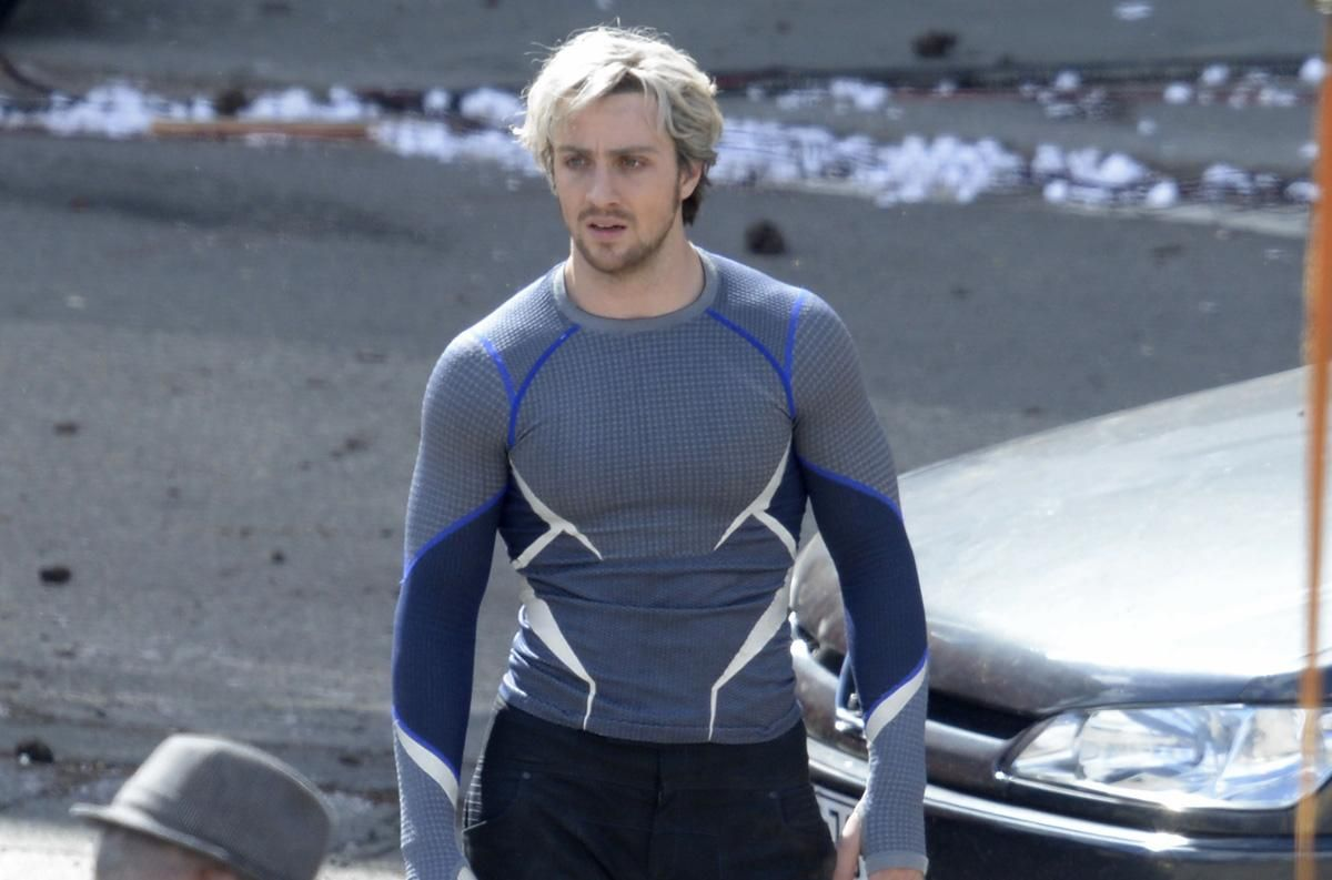 Quicksilver Avengers: Age of Ultron   Aaron taylor johnson, Avengers,  Scarlett witch