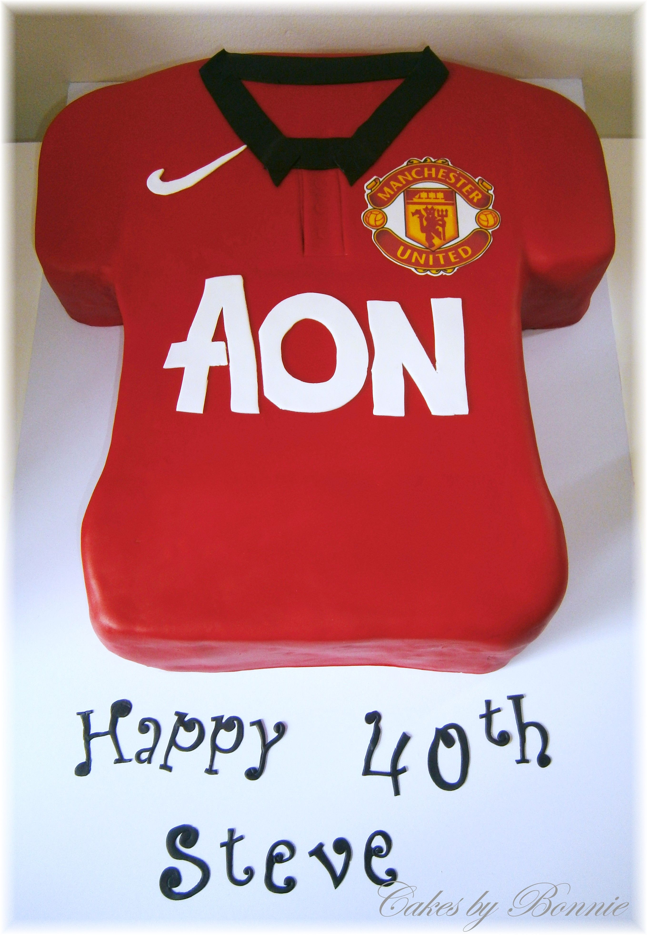 Manchester United Jersey Cakes By Bonnie Bonnie The Unit Manchester United